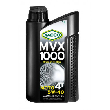 YACCO 5W40 MVX 1000 4T/1L